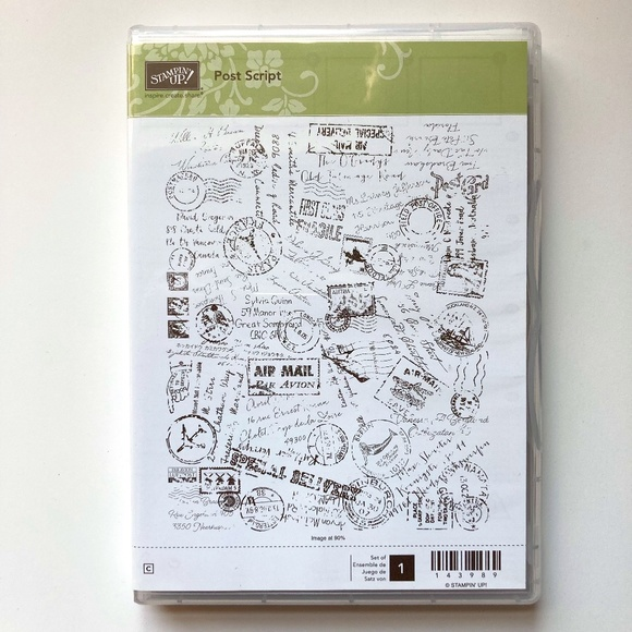 Stampin' Up! Post Script Retired Clear Mount Stamp - NEW